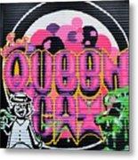 Queens Cat Mural Metal Print