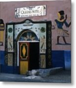 Queen's Hotel Habou Egypt Metal Print