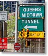 Queens Midtown Tunnel Metal Print