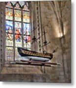 Quelven Church, Brittany, France, Ship Metal Print
