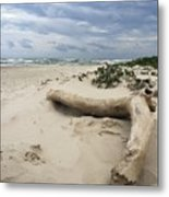 Quiet Day At The Beach Metal Print