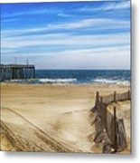 Quiet Day On The Beach Metal Print