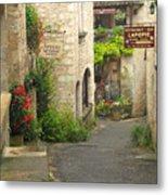 Quiet Lane In St Cirq I France Metal Print