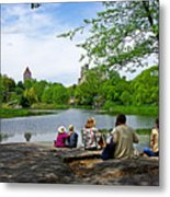 Quiet Moment In Central Park Metal Print