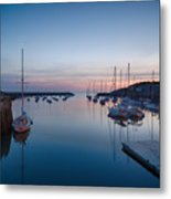 Quiet Solitude Rockport Harbor Metal Print