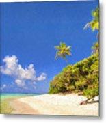 Quiet Tahiti Beach Metal Print