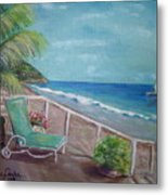 Quiet Time In Malibu Metal Print