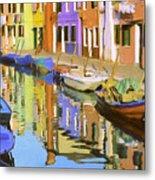 Quiet Waterway Reflections Metal Print