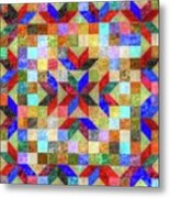 Quilt Pattern No. 1 Metal Print