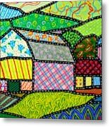 Quilted Bath County Barn Metal Print