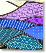 Quilted Mountain Metal Print