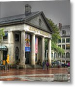 Quincy Market On A Wet Day Metal Print