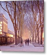 Quincy Market Stroll Metal Print by Susan Cole Kelly