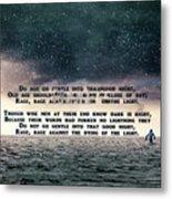 Quotes From Interstellar Metal Print