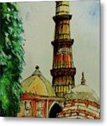 Qutab Minar Of India, Monument Of India Metal Print