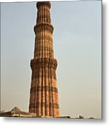 Qutb Minar In New Delhi Metal Print