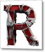 R Is Rock N Roll Metal Print