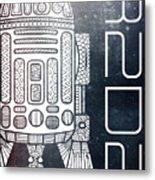 R2d2 - Star Wars Art - Space Metal Print