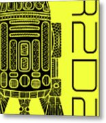 R2d2 - Star Wars Art - Yellow Metal Print