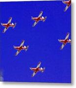 Raaf Roullettes Flying Across North Head Sydney Metal Print