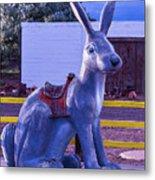 Rabbit Ride Route 66 Metal Print