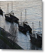 Rabelo Boats On Douro River In Portugal Metal Print