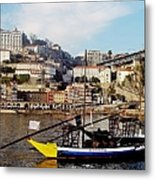 Rabelo Boats On River Douro In Porto 02 Metal Print