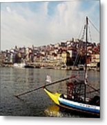 Rabelo Boats On River Douro In Porto 03 Metal Print