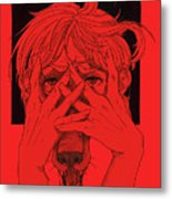 Rabid Breathing Red Variant Metal Print