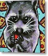 Trash Panda Finds Love Metal Print