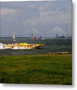 Race Boat In Charleston Metal Print
