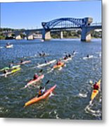 Race On The River Metal Print by Tom and Pat Cory