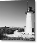 Race Point Lighthouse Black And White Photo Print Metal Print