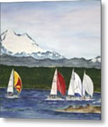 Race Week On Whidbey Island Metal Print