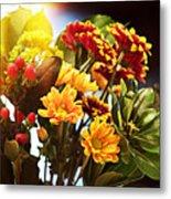 Rachels Flowers Metal Print