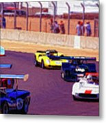 Racing At Laguna Seca Metal Print