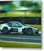 Racing Car Metal Print
