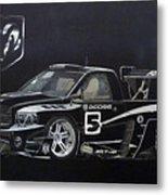 Racing Dodge Pickup Metal Print