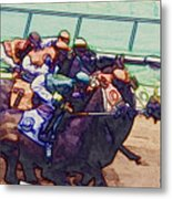 Racing To The Finish Line Metal Print
