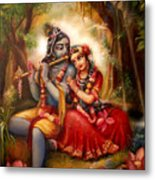 Radha-krishna  Metal Print