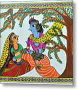Radha Krishna  Metal Print