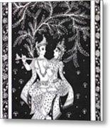 Radha Krishna - The Devine Metal Print