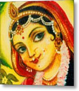Radha - The Indian Love Goddess Metal Print