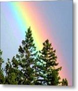 Radiant Rainbow Metal Print