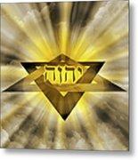 Radiant Star Of David Metal Print