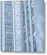 Radio City Cool Toned Metal Print