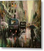 Rainy At Radio City Music Hall Metal Print
