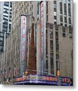 Radio City Music Hall New York City Metal Print
