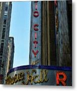 Radio City Music Hall Metal Print by Paul Ward