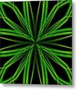 Radioactive Snowflake Green Metal Print